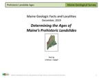 Determining the Ages of Maine's Prehistoric Landslides by Lindsay J. Spigel
