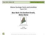 Bass Rock: An Excellent Erratic, Weld, Maine by Lindsay J. Spigel