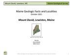 Mount David, Lewiston, Maine