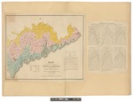 Map of the Inhabited Part of the State of Maine, Exhibiting the Progress of its Settlement Since the Year 1778 ... 1829 by Moses Greenleaf