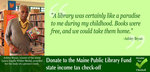 Ashley Bryan Supports Maine Public Library Tax Checkoff by Maine State Library
