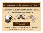Interested in Learning to Knit? January 2017 by Maine State Library