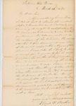 Letter from Virgil Barber to His Excellency Jonathan G. Hunton, March 16, 1830