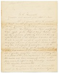 Letter from Samuel Hussey, Agent for Indian Affairs, to Governor and Executive Council, January 11, 1823