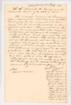Petition of Passamaquoddy Tribe to the Governor and Executive Council regarding appointment of Jonas Farnsworth as Indian Agent, July 11, 1831