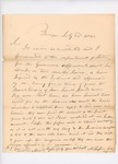1832-07-23  Correspondence from Mark Trafton to Secretary of State inquiring about status of lease of Pea Islands