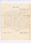 1833-12-27  Letter from State Treasurer Mark Harris to Governor and Council in relation to investment of funds belonging to the Penobscot Tribe