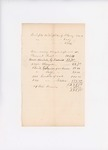 1834 (circa)  Receipts relating to the Passamaquoddy Tribe