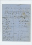 1857  Petitions from Passamaquoddy Tribe and citizens of Calais requesting appointment of David Gordon as agent