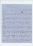 1858  Letters of support for appointment of John Sprague as agent of the Passamaquoddy Tribe