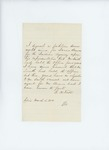 1858-01  Letters in support of the appointment of Isaac Bearce as agent for the Passamaquoddy Tribe