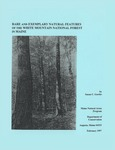 Rare and Exemplary Natural Features of the White Mountain National Forest in Maine by Susan C. Gawler