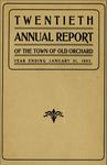 Twentieth Annual Report of the Town of Old Orchard, Year Ending January 31, 1903 by Town of Old Orchard