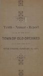 Tenth Annual Report of the Town of Old Orchard for the Year Ending January 31, 1893 by Town of Old Orchard