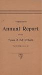 Thirteenth Annual Report of the Town of Old Orchard Year Ending Jan. 31, 1896