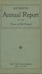 Sixteenth Annual Report of the Town of Old Orchard for the Year Ending January 31, 1899 by Town of Old Orchard