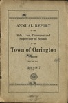 Annual Report of the Selectmen, Treasurer and Supervisor of Schools of the Town or Orrington for the Year 1916-1917 by Town of Orrington, Maine