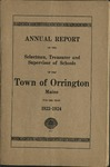 Annual Report of the Selectmen, Treasurer and Supervisor of Schools of the Town or Orrington for the Year 1923-1924
