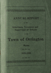 Annual Report of the Selectmen, Treasurer and Supervisor of Schools of the Town or Orrington for the Year 1925-1926 by Town of Orrington, Maine
