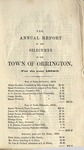 Annual Report of the Selectmen of the Town of Orrington For the Year 1854-1855