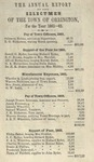 Annual Report of the Selectmen of the Town of Orrington For the Year 1861-1862 by Town of Orrington, Maine