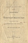 Annual Report of the Selectmen of the Town of Orrington and the Supervisor of Schools For the Year 1872-1873