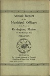 Annual Report of the Municipal Officers of the Town or Orrington for the Year 1934-1935