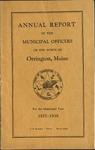Annual Report of the Municipal Officers of the Town or Orrington for the Year 1937-1938