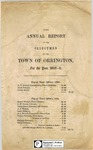 Annual Report of the Selectmen of the Town of Orrington for the Year 1852-53