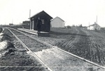 Railroad Depot in North Orrington by Pauline M. Bickford-Duane
