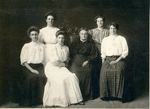 Bartlett, Blake, Brown, Conley, and Spinney Women (2), circa 1905 by Orrington Historical Society