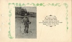 Postcard, Mr. Frank E. Rogers, fisherman, South Orrington by Orrington Historical Society