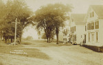 Postcard, Main St, Orrington, circa 1910 by Orrington Historical Society
