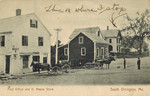 Postcard, Post Office and K. Means Store, South Orrington, 1916 by Orrington Historical Society