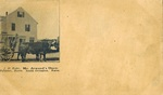 Postcard, Mr. Atwood's Oxen, circa 1890 by Orrington Historical Society