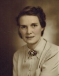 Elizabeth Clark Keene, Teacher at Blanche K. Blake School, South Orrington, circa 1940 by Orrington Historical Society