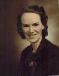 Geraldine W. Clark, Teacher at Blanche K. Blake School, South Orrington, circa 1940 by Orrington Historical Society