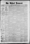 The Oxford Democrat : Vol. 50. No.21 - May 29, 1883