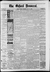 Oxford Democrat : Vol. 50. No.30 - July 31, 1883