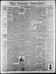 Oxford Democrat : Vol. 68. No.32 July 30,1901