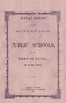 1858 Paris Maine School Superintendent Report
