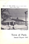 1961 Paris Maine Town Report by Municipal Officers of Paris Maine