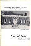 1962 Paris Maine Town Report by Municipal Officers of Paris Maine