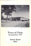 1963 Paris Maine Town Report