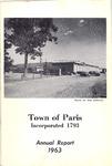 1963 Paris Maine Town Report by Municipal Officers of Paris Maine