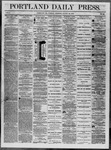 Portland Daily Press: August 12,1862