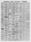 Portland Daily Press: January 25,1875