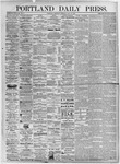 Portland Daily Press: July 15, 1875