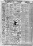 Portland Daily Press: July 21, 1875