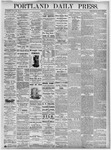 Portland Daily Press: August 25, 1875